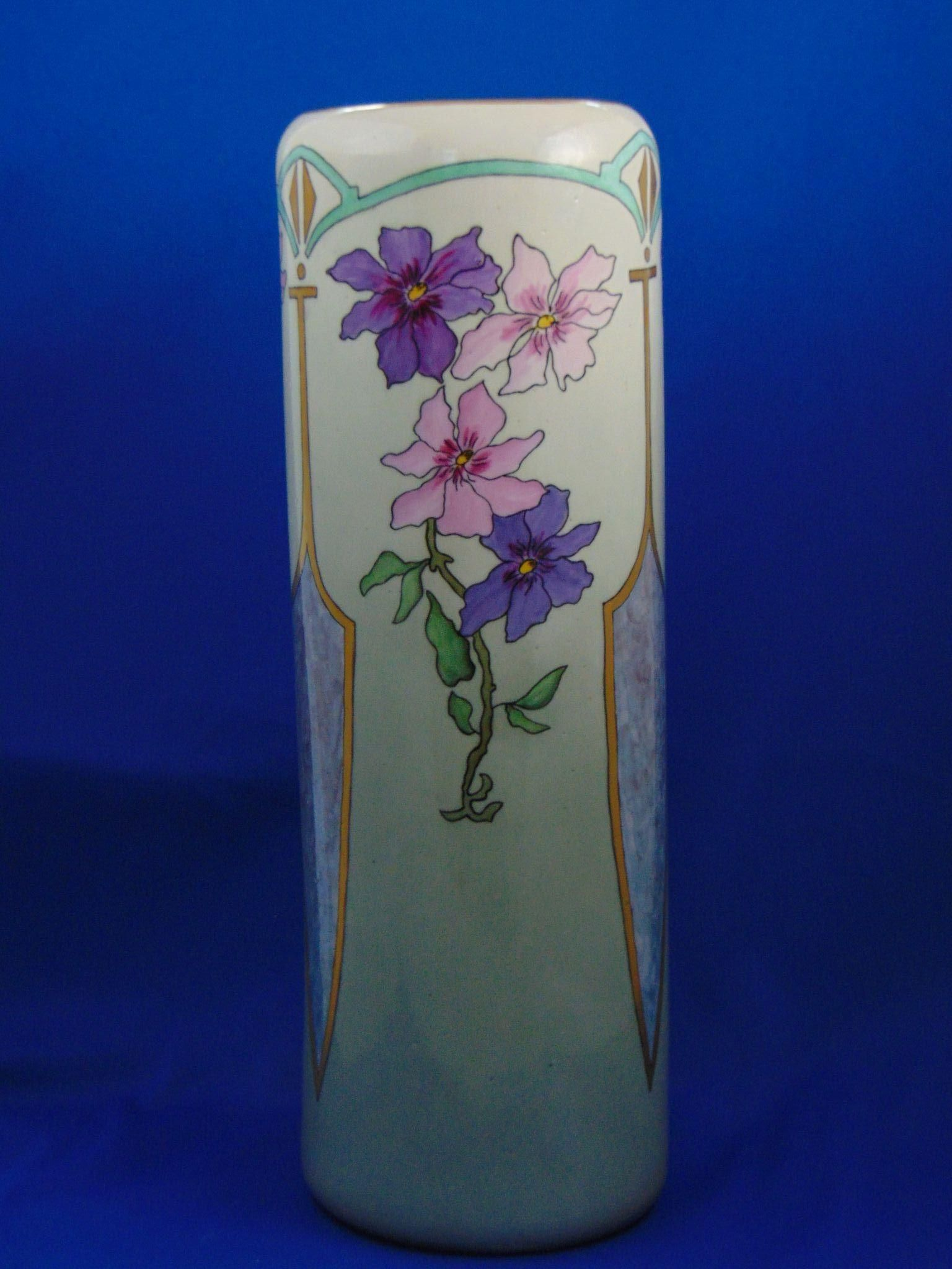 Tk czechoslovakia arts crafts purple pink floral motif vase c offered for purchase is a beautiful tk czechoslovakia arts crafts purple pink floral motif vase reviewsmspy