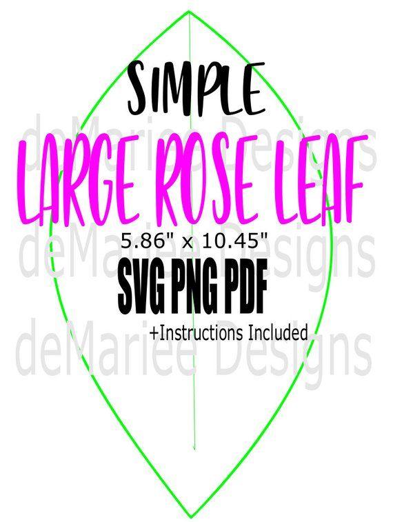 Large Paper Rose Leaf Template Paper Flower Template Diy Paper