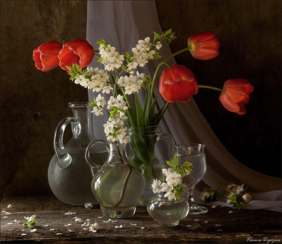 #весна #тюльпаны #цветы #вода #натюрморт Author: Eleonora Grigorjeva