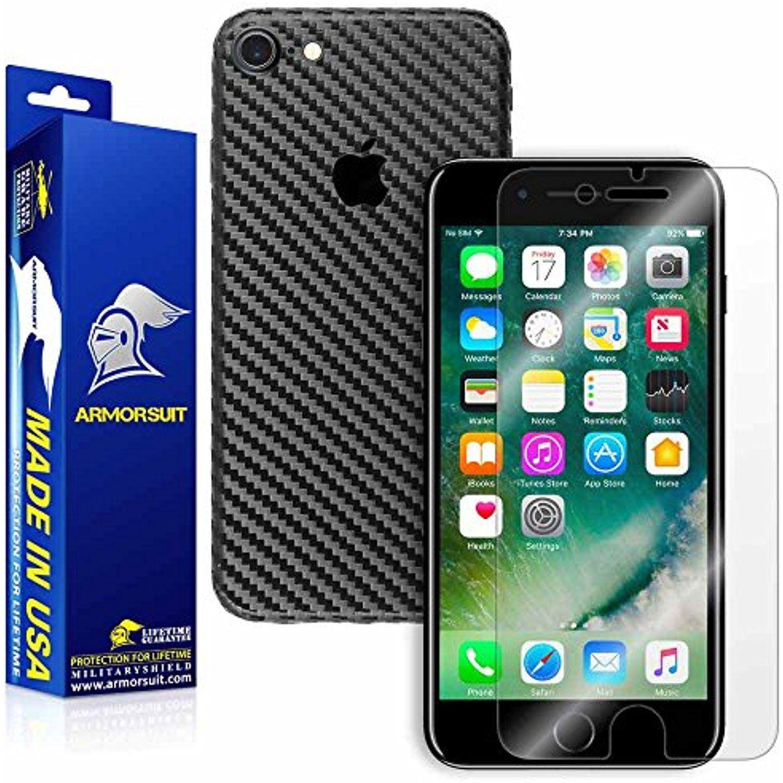 Armorsuit iphone 8 plus screen protector black carbon