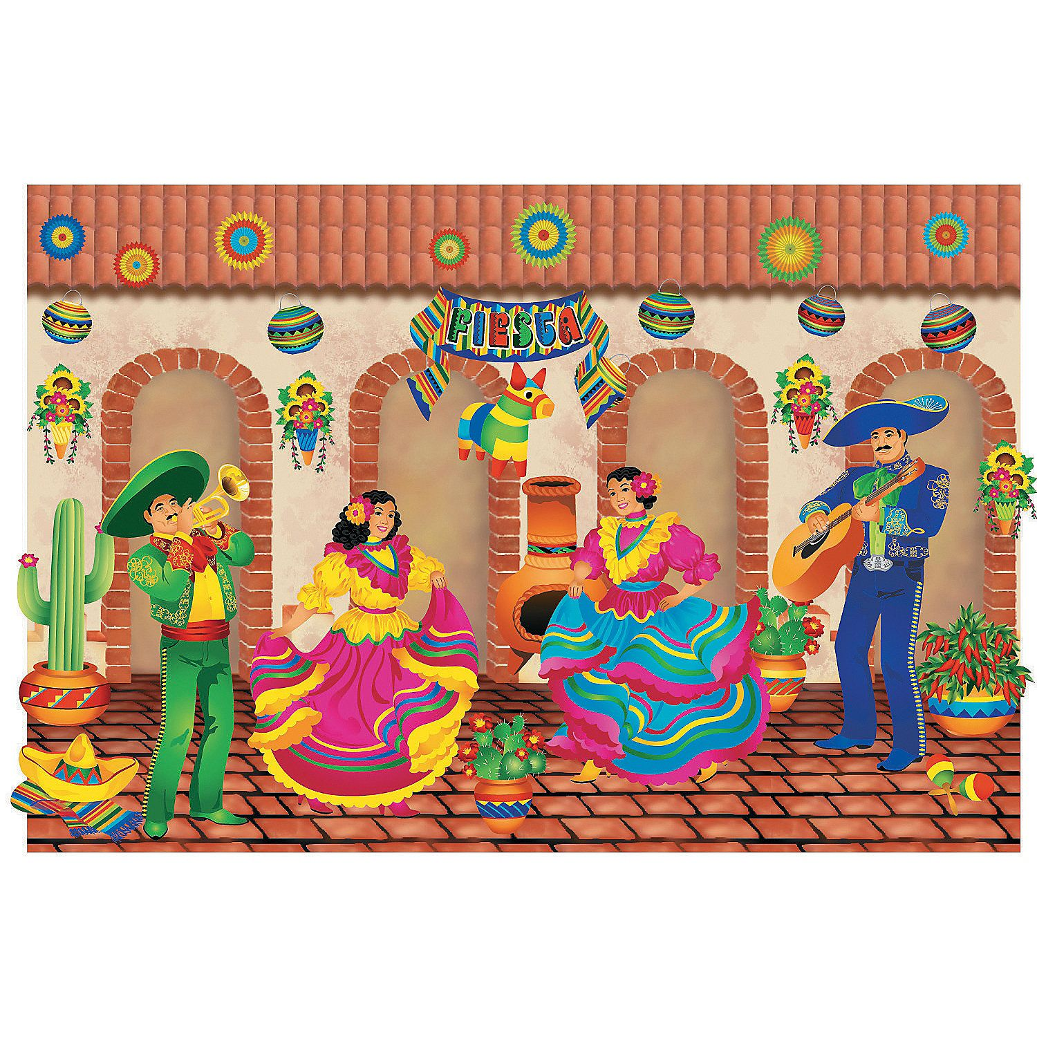 Fiesta Design-A-Room Wall Background - OrientalTrading.com ...