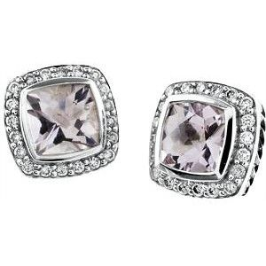 David Yurman Albion Amethyst Stud Earrings These Are Nice