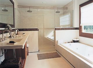 Ba o con tina y regadera ba o ba os modernos ba os y - Imagenes de banos con ducha ...