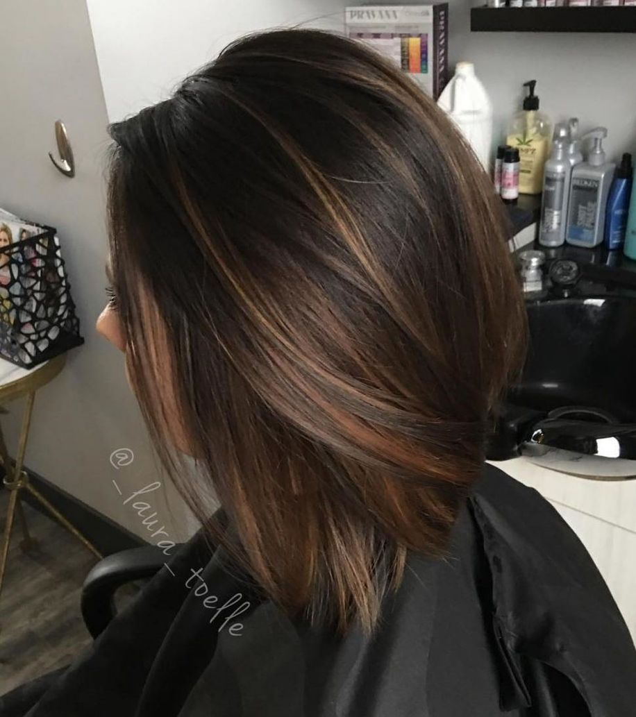 Silky And Smooth Dark Brown Hair Brunette Hair Color Hair Highlights Brown Hair With Lowlights
