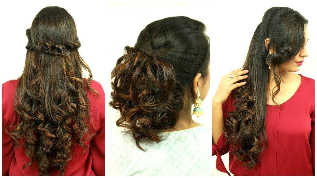 3 Easy Festive Hairstyles Diwali Special Shruti Arjun Anand