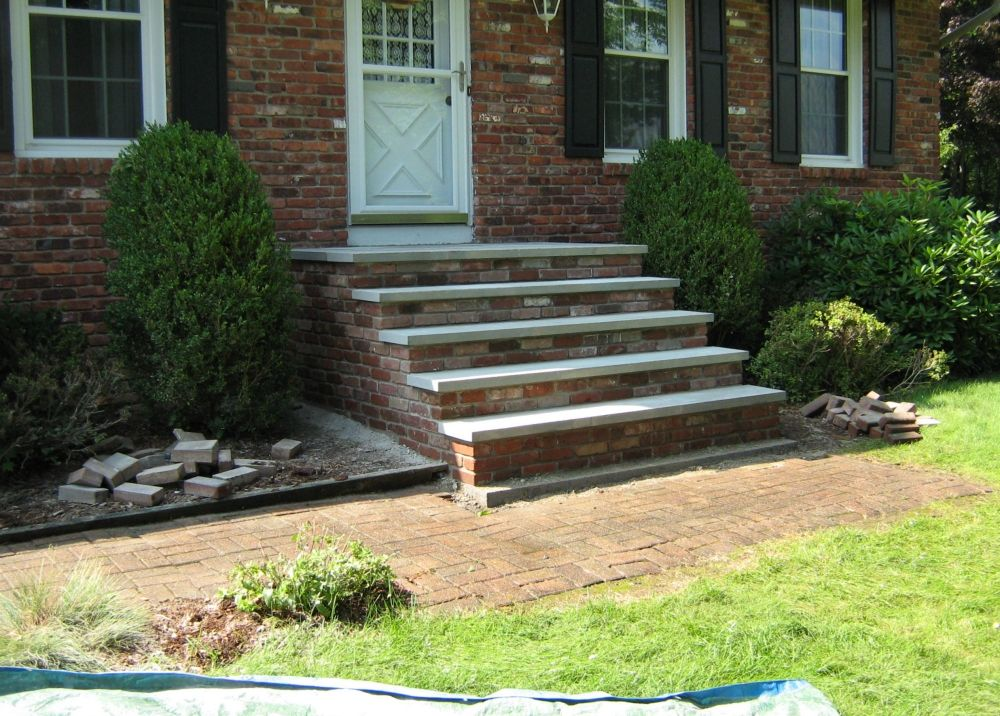 Bluestone Steps Brick Risers Front Steps Outside