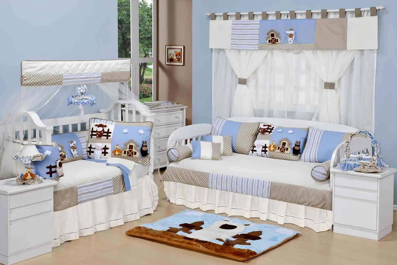 O Quarto De Beb Ursinho Beb Azul O Cantinho Que Seu Menino  ~ Quarto De Bebe Azul E Marrom E Quarto Para Gemeos Casal