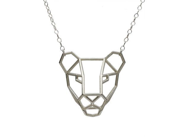 Lioness Pendant By Summerized On 3d Printed Jewelry