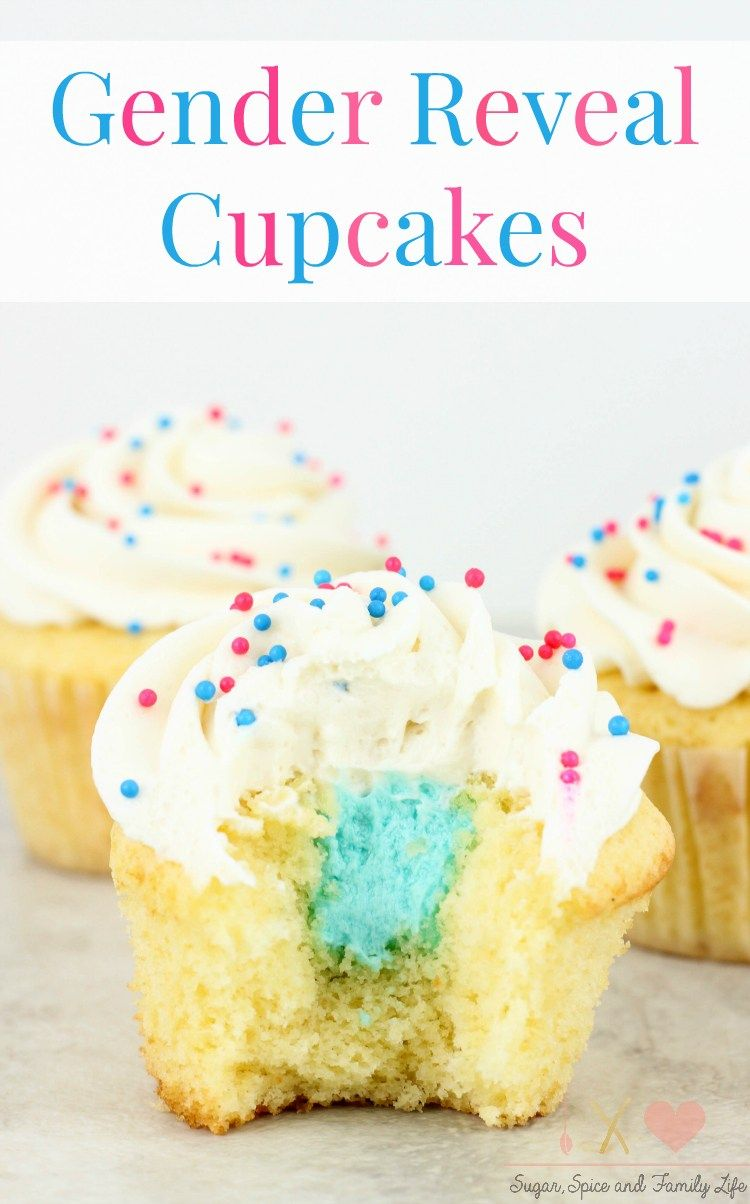 Gender Reveal Vanilla Cupcakes Gender Reveal Ideas For Baby 2