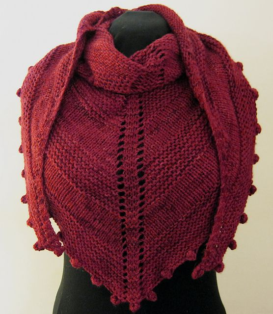 Raspberry Shawl By JumperCablesKnitting - Free Knitted Pattern ...