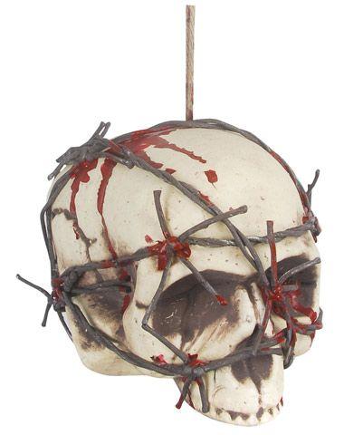 Hanging Barbed Wire Head #halloween decorations Halloween