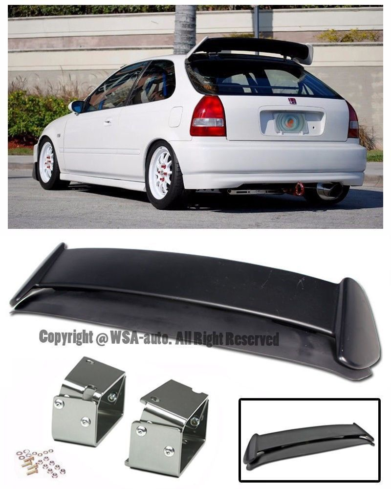 97 Honda Civic Body Kits : honda, civic, Amazon.com:, 96-00, Honda, Civic, Hatchback, Plastic, Style, Spoiler, Civic,