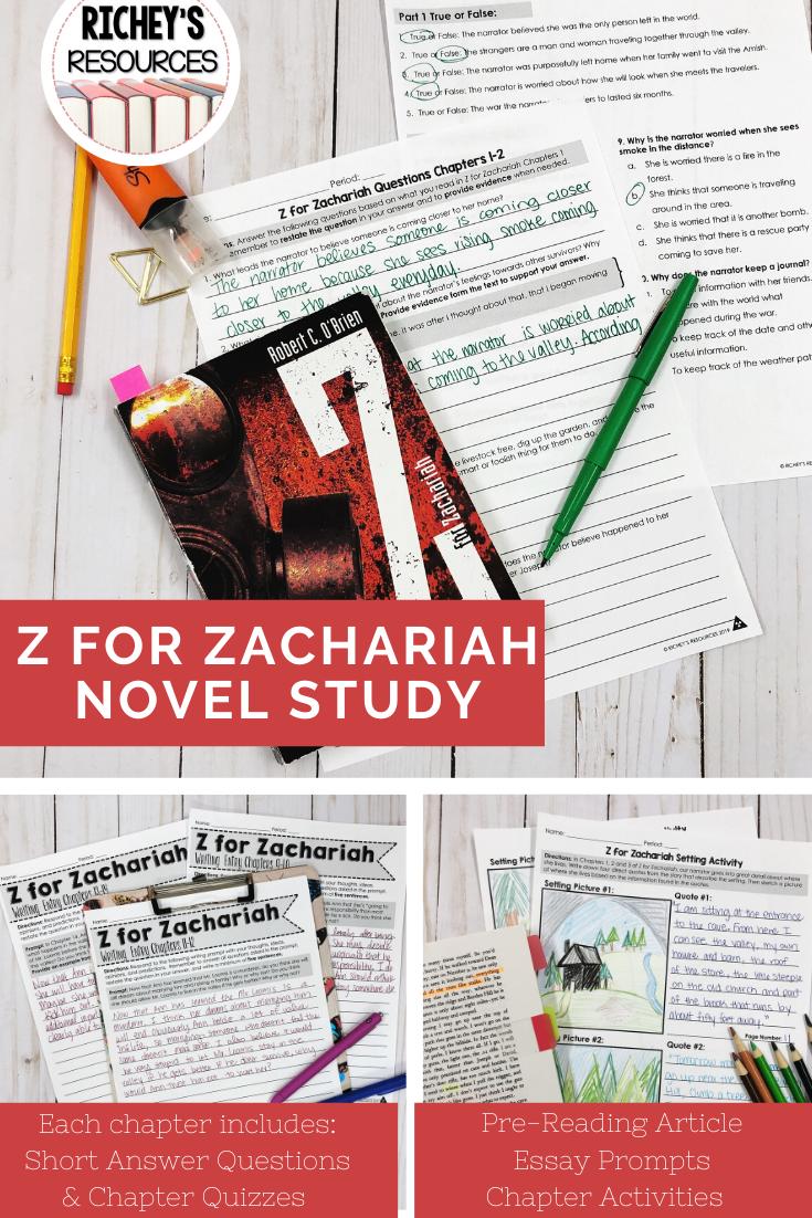 Z For Zachariah Novel Study Studie Reading Circles Essay