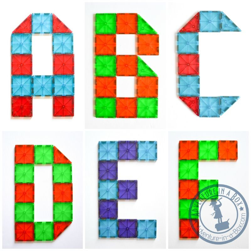 Magna Tiles Alphabet Printable Cards Free Of 26 Letter Designs For Kids To Reproduce