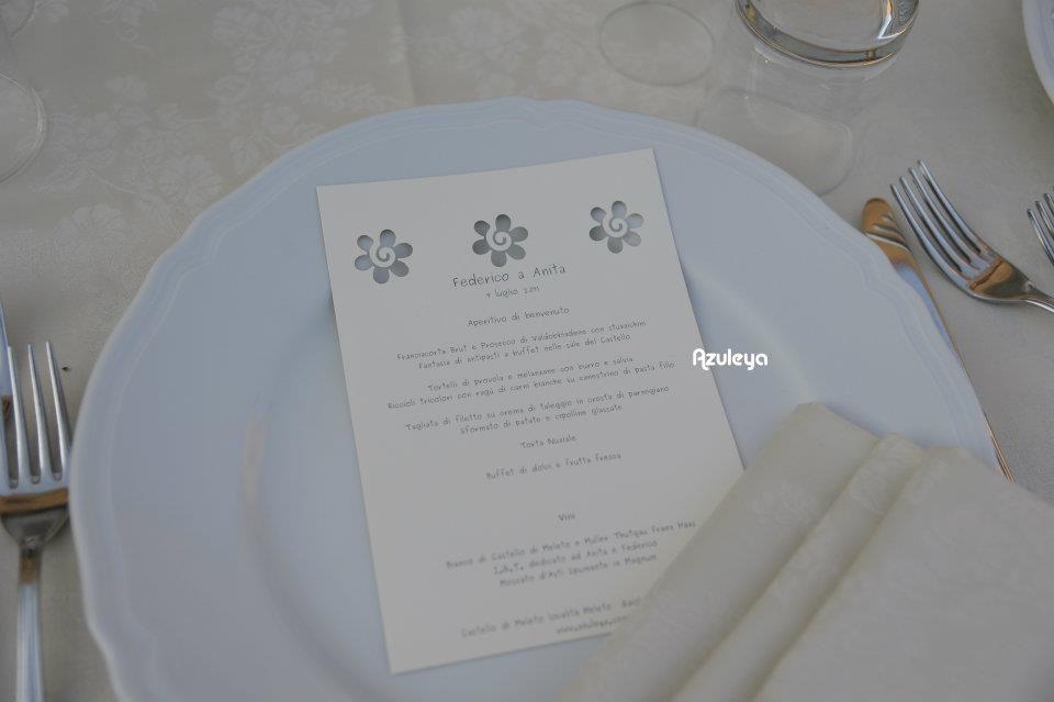 menu traforato creato da Azuleya