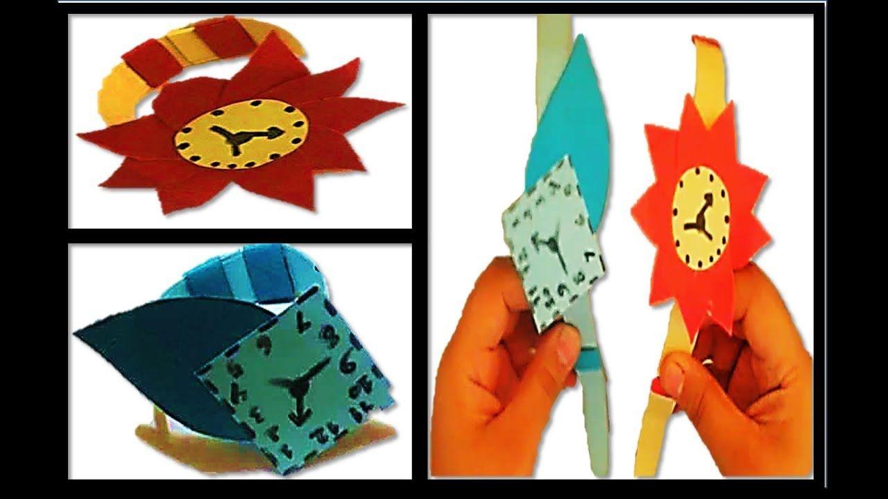 طريقة عمل ساعة بالورق للاطفال Method Of Paper Clock For Children Hand Art Paper Clock Clock