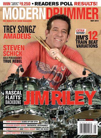 April 2014 Issue Of Modern Drummer Featuring Mike Johnston Contents Modern Drummer Magazine Modern Drummer Drummer Fade To Black
