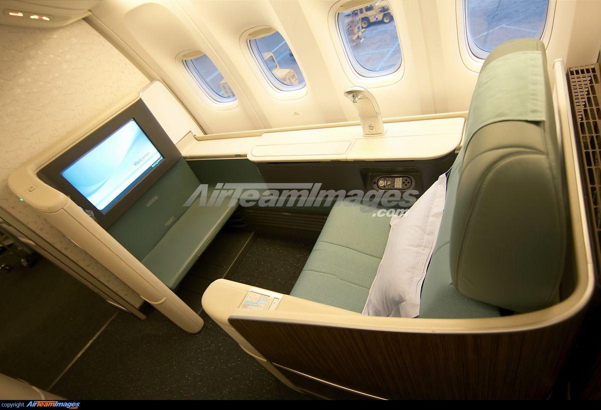 Korean Air Airbus A380 800 First Class Korean Air Boeing 777