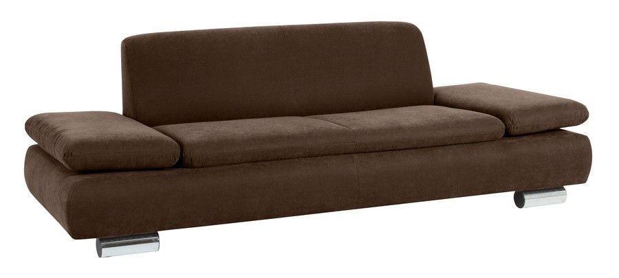 Max Winzer Tournai Sofa 2,5 Sitzer Velour braun Jetzt bestellen - mobel braun wohnzimmer