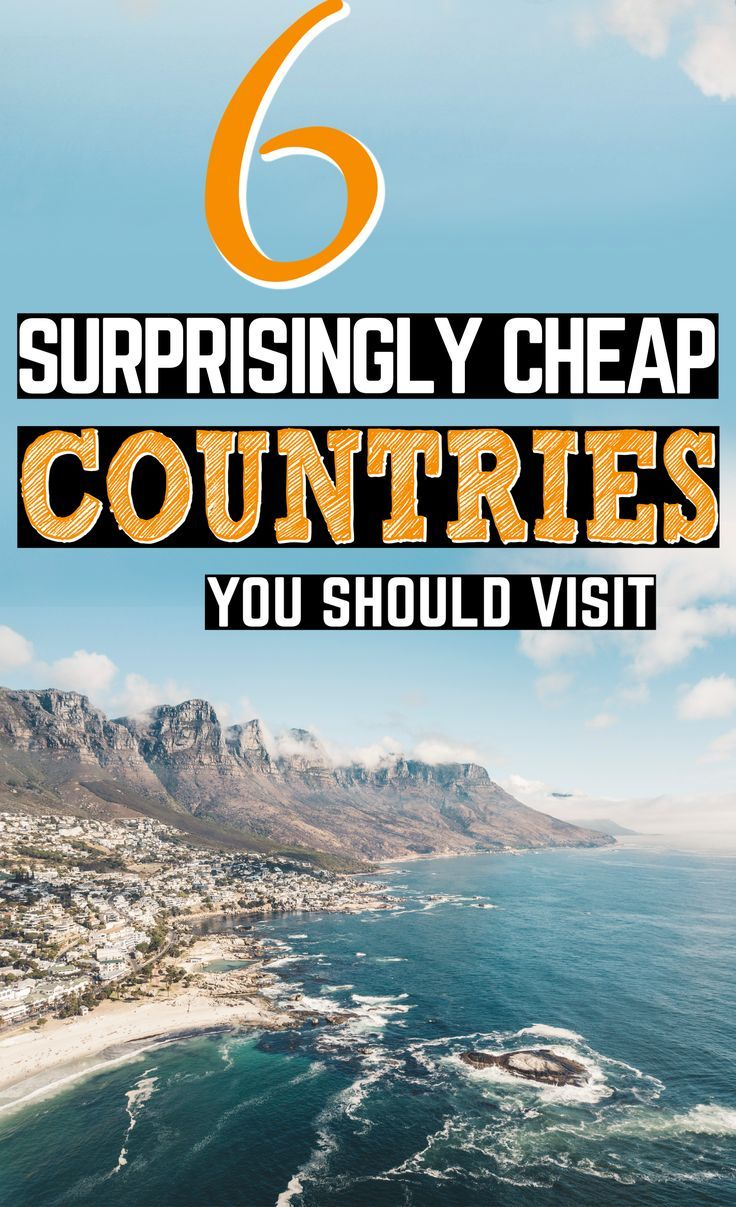 Cheap countries to visit when you're broke. Why should lack of money make travel impossible? Well, with just a bit of budgeting and planning, it shouldn't! Here are 6 surprisingly affordable destinations. Get out there and see the world, friends! #BudgetTravel #CheapDestinations #CheapCountries #CheapTravel #FreeTravel #TravelOnABudget #CheapLocations