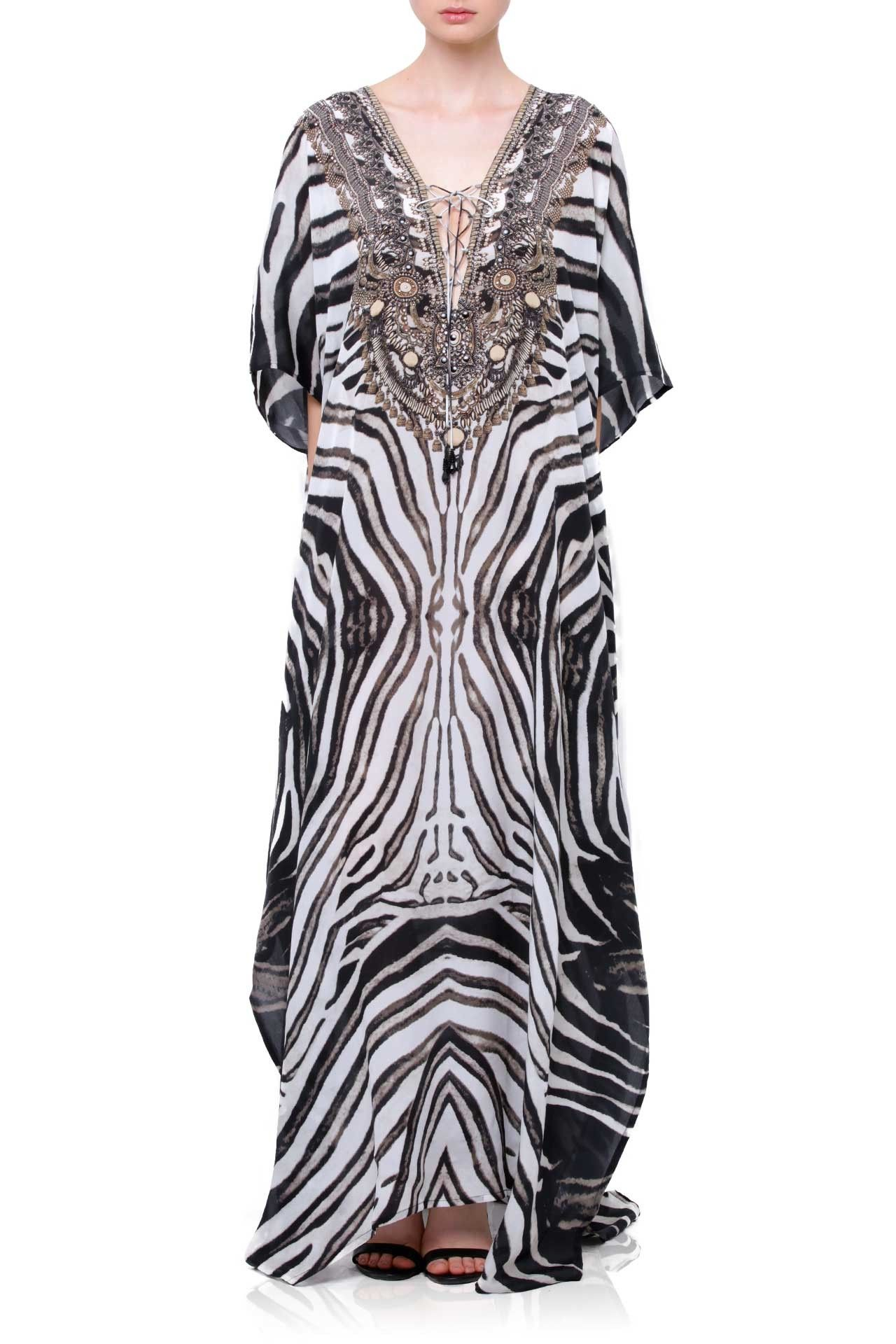 Printed kaftan dress plus size kaftans long kaftans shahida