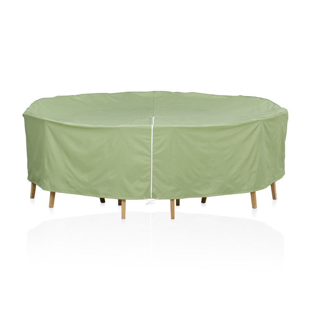 Round table chairs outdoor furniture cover with umbrella option crate and barrel