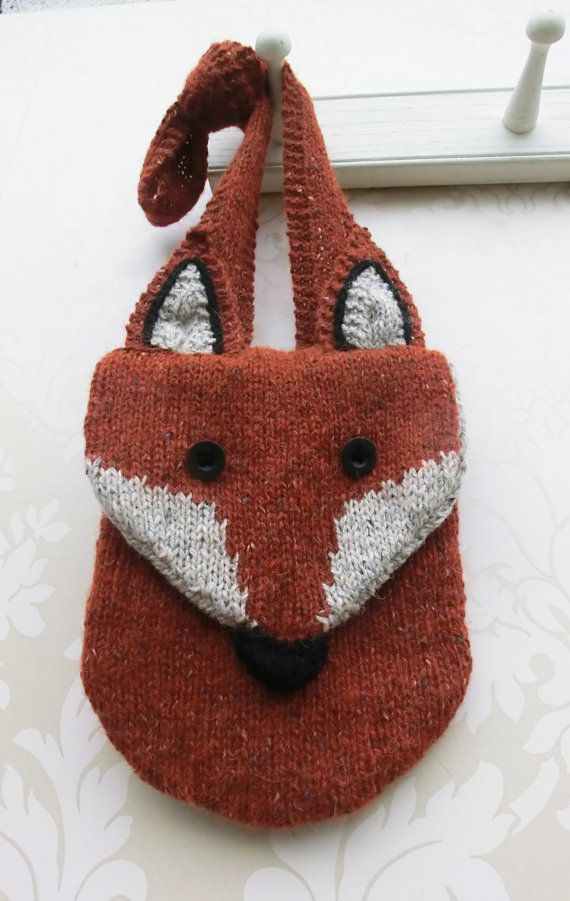 Knitting pattern for Fox Messenger Bag purse by Ruth Maddock - The ...