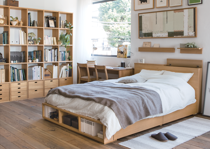 I like this style bedroom not too empty but not busy - Modern japanese bedroom furniture ...