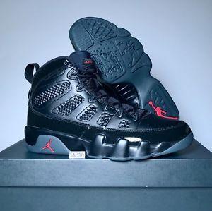 2c313d30034873 Nike Air Jordan Retro 9 IX Bred Black and University Red Anthracite  302370-014