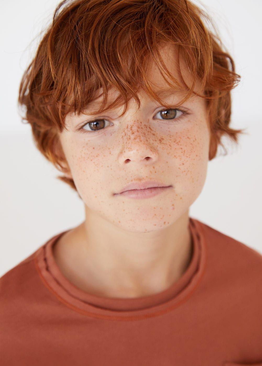 Pocket Cotton T Shirt Boys Mango Kids Usa Pretty People Portrait Freckles