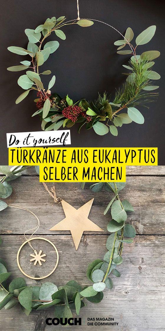 Eukalyptuskranz • Bilder & Ideen #vintageweihnachten