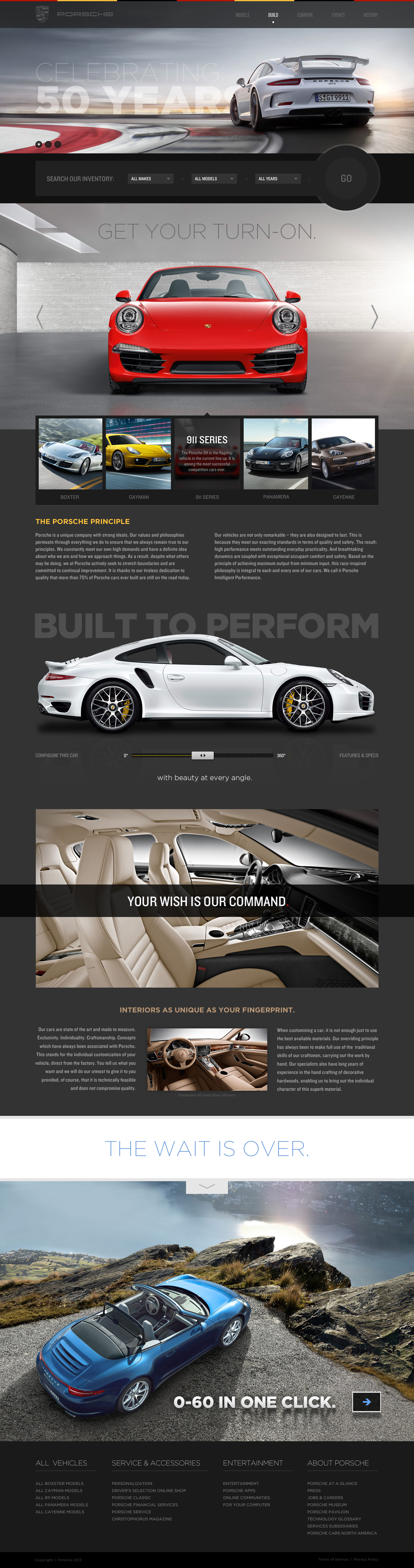 Cool Automotive Web Design On The Internet Porsche Automotive - Cool car websites