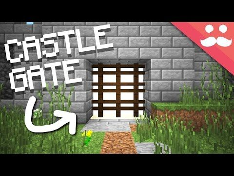 How To Make A Castle Gate In Minecraft Youtube Castle Gate Minecraft Castle Castle