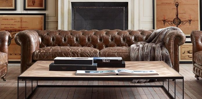 Kensington | Restoration Hardware // Here Are Some Leather Sofas I Like