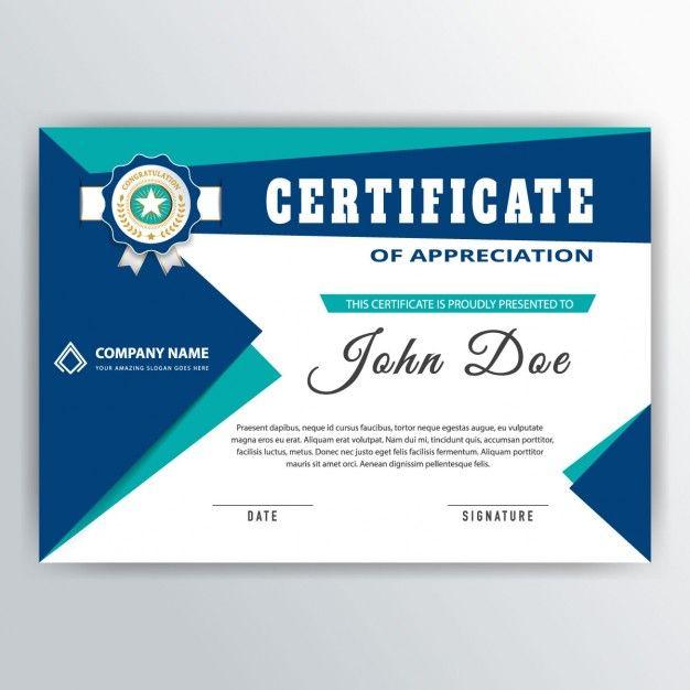 Certificate of appreciation free vector diplomas para imprimir certificate of appreciation free vector yadclub Gallery