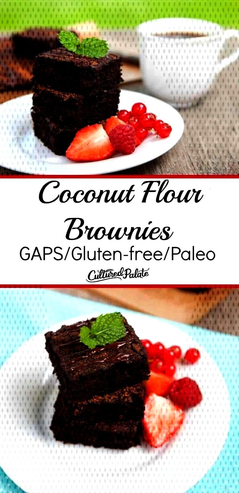 a grain free brownie? These coconut flour brownies are all you need! They are gluten-free brownies,