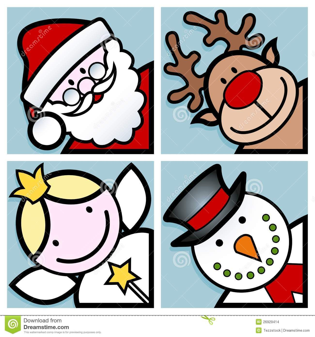 Christmas Thank You Happy Faces More Similar Stock Images Of