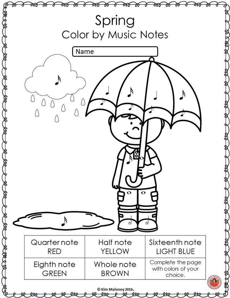 Spring Music Coloring Sheets 26