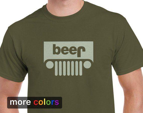 Funny Jeep Beer Parody Mens T Shirt Tee Etsy Mens Tshirts Tee Shirts Shirts