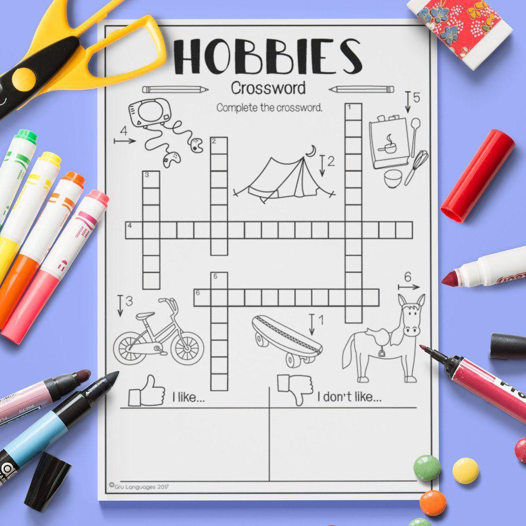 Hobbies Crossword
