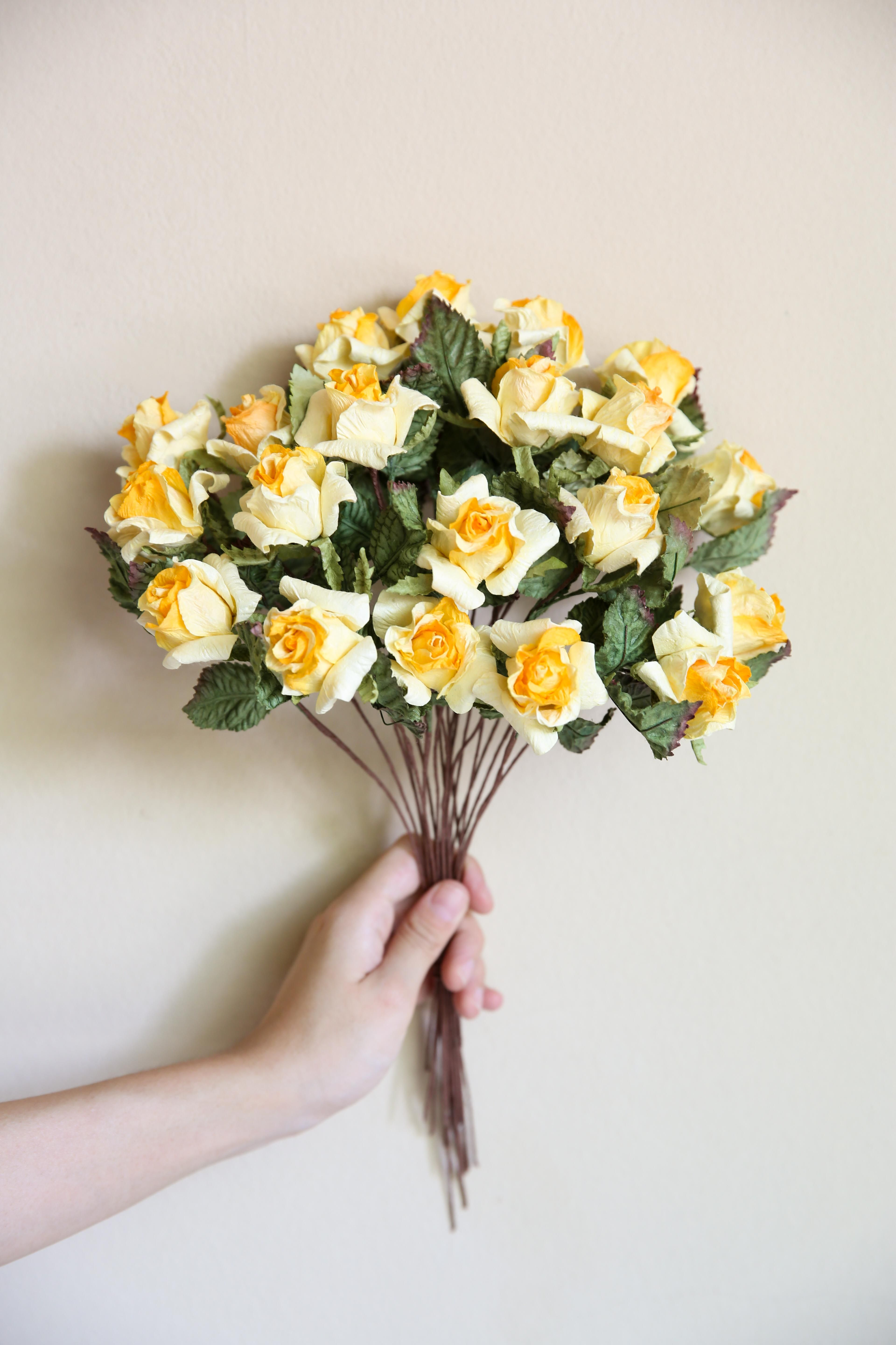 Jampa Yellow Small Rose Small Rose Mulberry Paper Pinterest