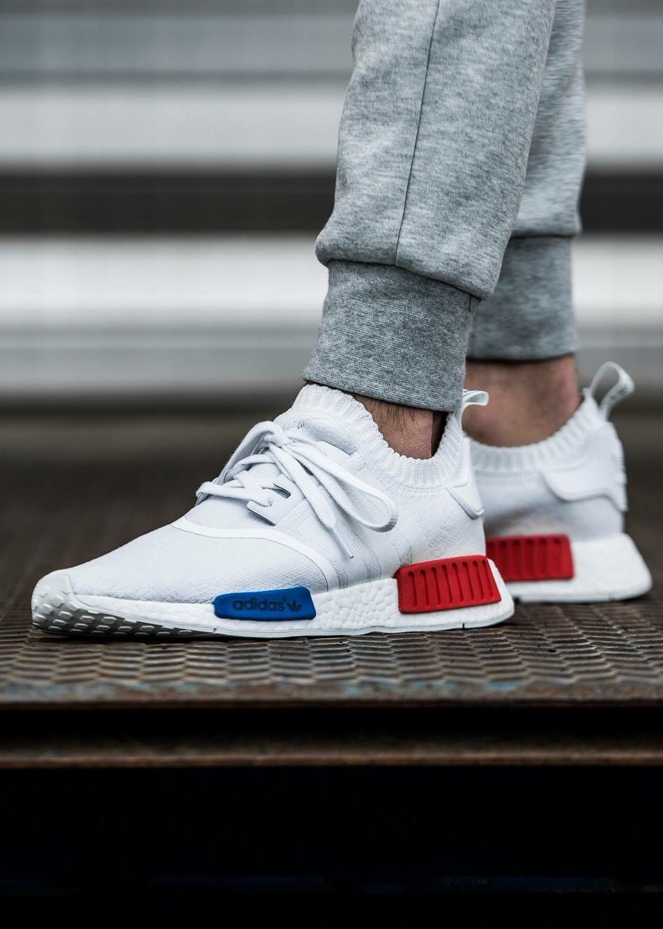 adidas Originals NMD R1: Blanc Baskets fashion Pinterest