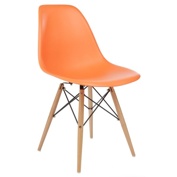 Handmade Retro Eames Style Molded Plastic Wood Eiffel Legs Orange Dining Chair (China)  sc 1 st  Pinterest & Handmade Retro Eames Style Molded Plastic Wood Eiffel Legs Orange ...
