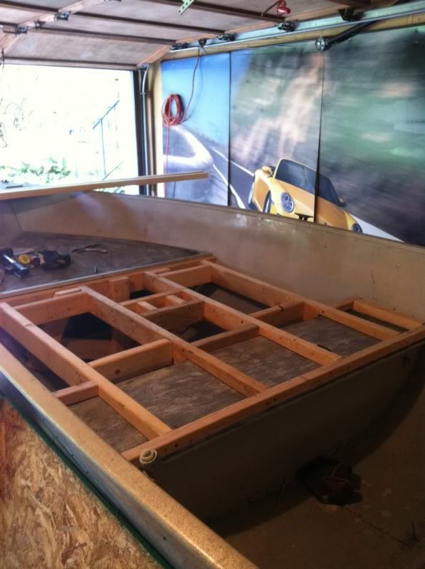 how to add a front deck to a v hull   15' Aluminum Meyer V Hull Conversion (Complete)   outdoor ...
