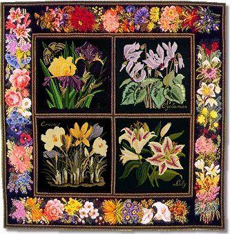 Elizabeth Bradley Botanical Garden Carpet Tapestry Kits