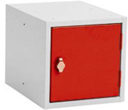 Storage box, 270x350x270, Padlock, Gray / Red