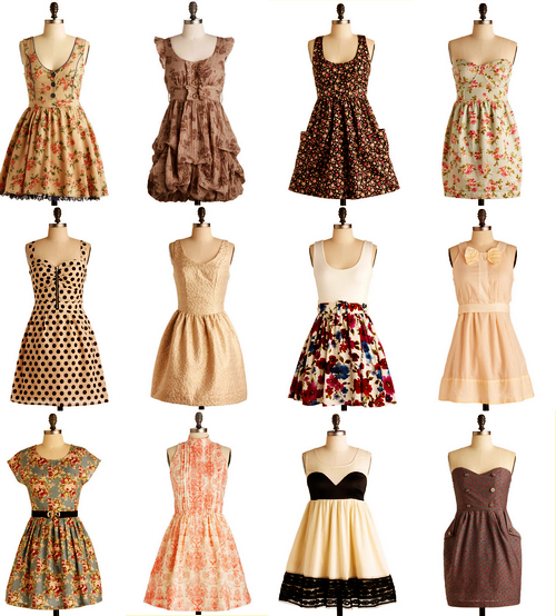 dresses. lots of dresses.