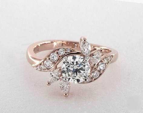 .9ct Round Vintage Inspired Engagement Ring in 360-HD SuperZoom (Rose Gold)