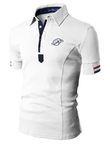 Doublju Mens Polo T-shirts with Short... | Dressing | Pinterest ...