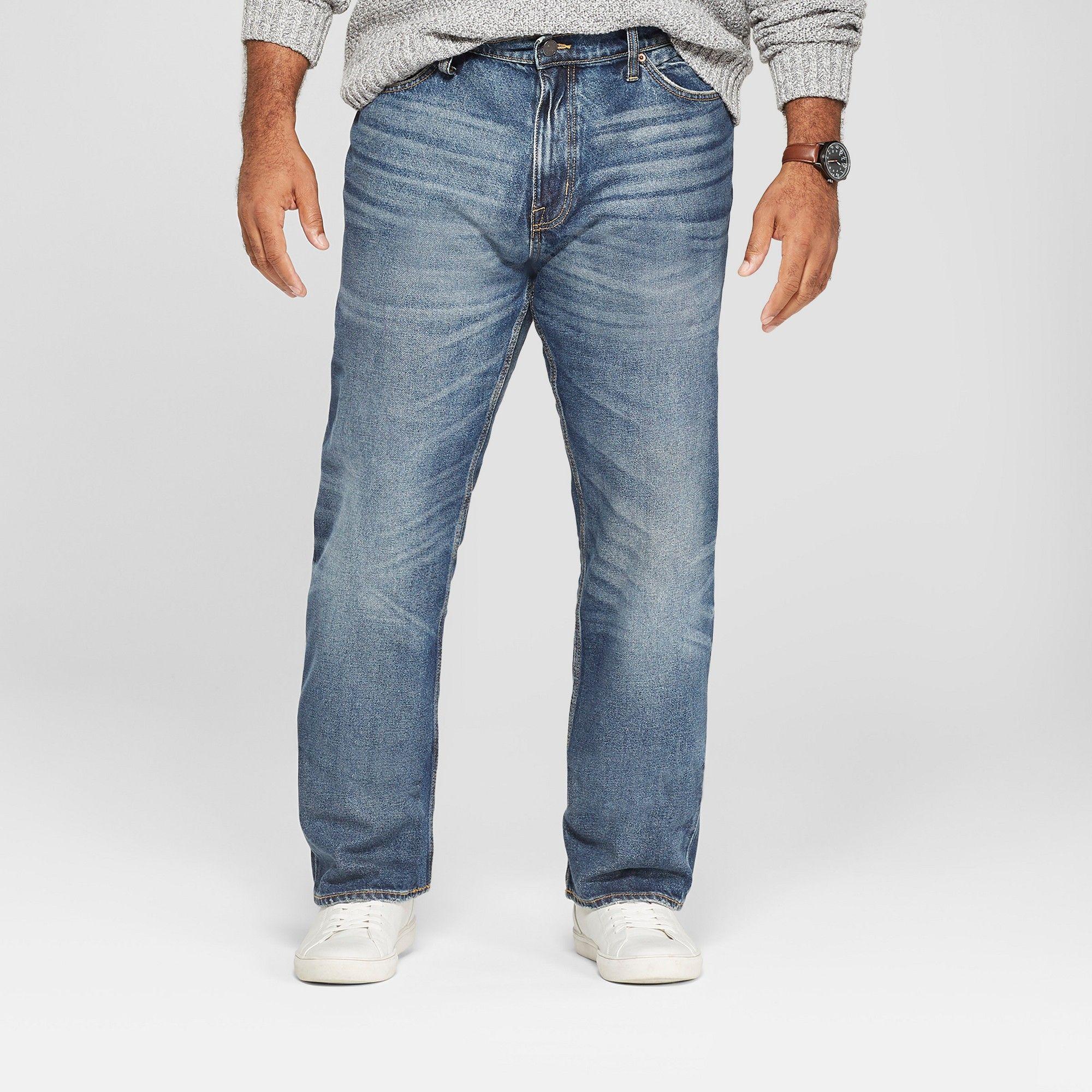 7237004d12e Men s Big   Tall Straight Fit Jeans - Goodfellow   Co Medium Vintage Wash  48x32